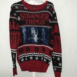 Stranger Things Ugly Christmas Sweater Medium